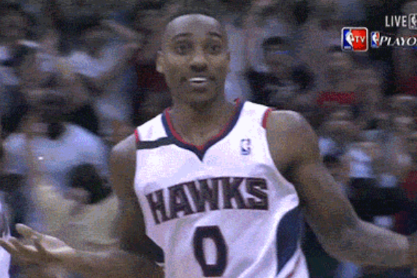 jeff teague crazy three-pointer