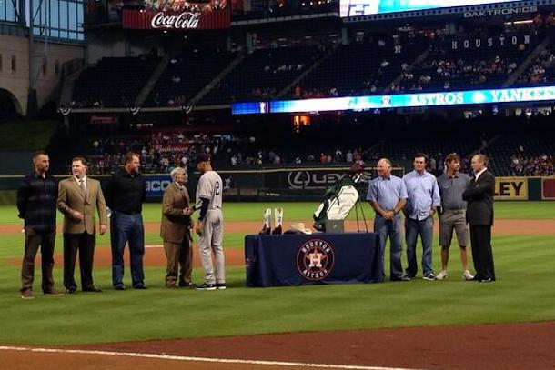 jeter farewell ceremony houston astros