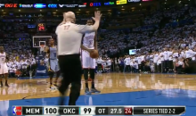 Referee Joey Crawford Iced Kevin Durant at the Free Throw Line Last Night (Video)