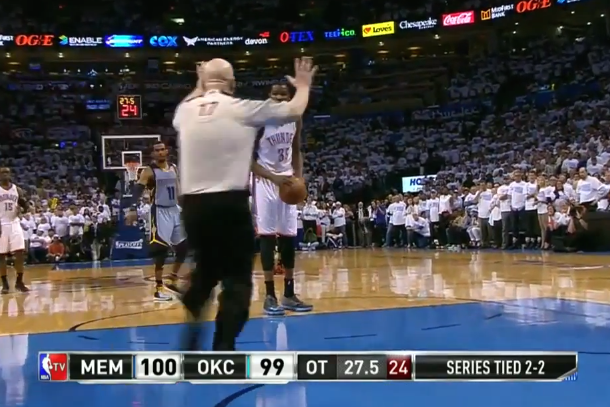 joey crawford ices kevin durant during overtime free throw