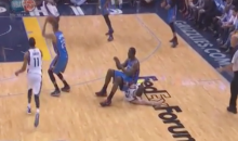 Kendrick Perkins Sits on Mike Miller, Revolutionizing NBA Defences Forever (Video)