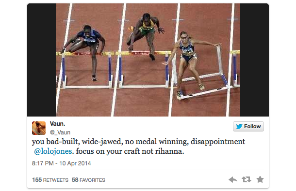 lolo jones twitter backlash drake espys 2.5