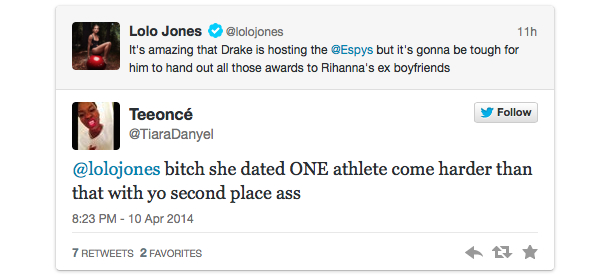 lolo jones twitter backlash drake espys 3