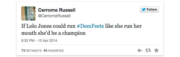 lolo jones twitter backlash drake espys 4