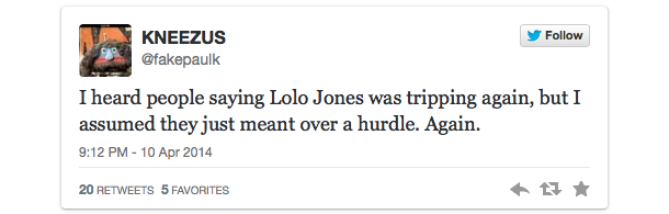 lolo jones twitter backlash drake espys 8