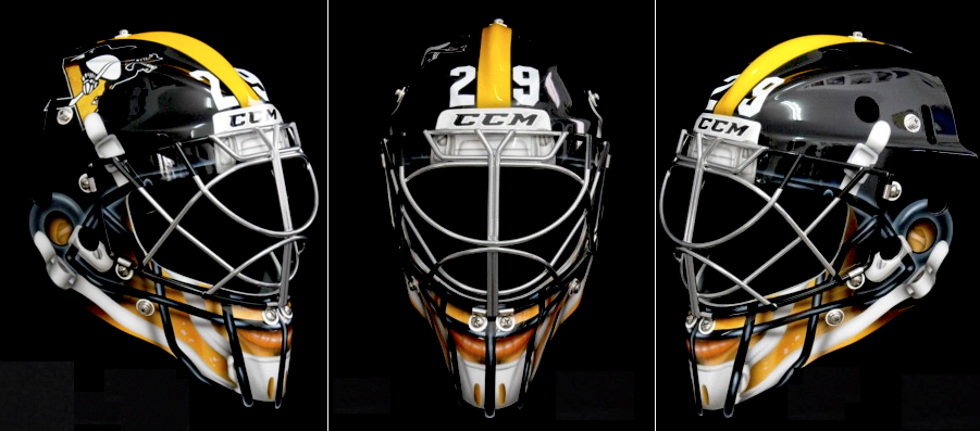 marc-andre fleury stadium series (pittsburgh penguins) - best goalie masks nhl 2013-14