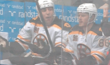 "Milan Lucic Owns Trash-Talking Leafs Fan, Asks Him ""What Happened Last Year?"" (GIF)"