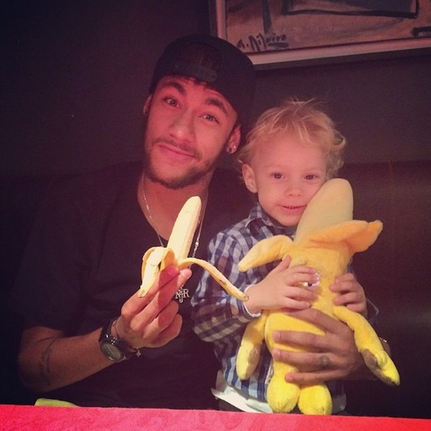 neymar eating banana instagram we are all monkeys meme