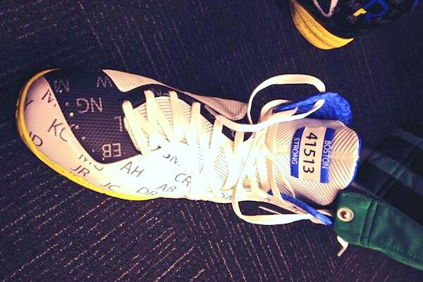 rajon rondo boston strong marathon bombing shoe