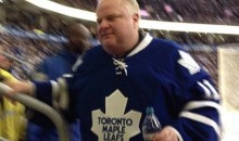 Rob Ford Was at the Maple Leafs Game on Saturday, Causing a Commotion (Video)