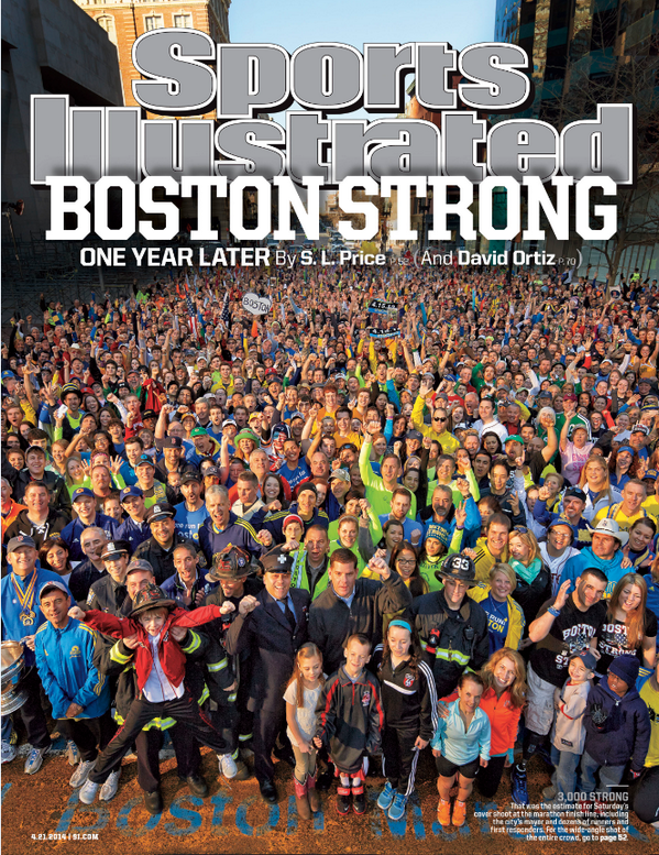 sports illustrated cover boston marathon bombing one year anniversary copy