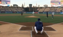 Swaggy P Throws Out Absolutely Awful First Pitch at Dodger Stadium (Video)