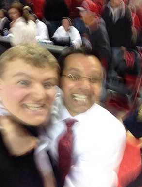 12 tim miles selfie with nebraska fan who rushed court - best sports selfies