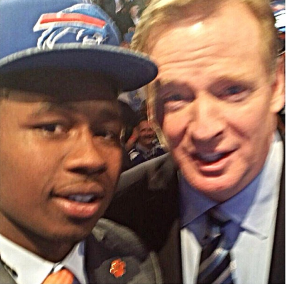 15 sammy watkins selfie with roger goodell - best sports selfies