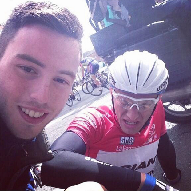 16 david mccarthy selfie with cyclist marcel kittel - best sports selfies