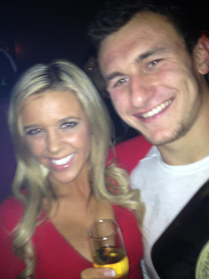 20 johnny manziel with random cute blonde