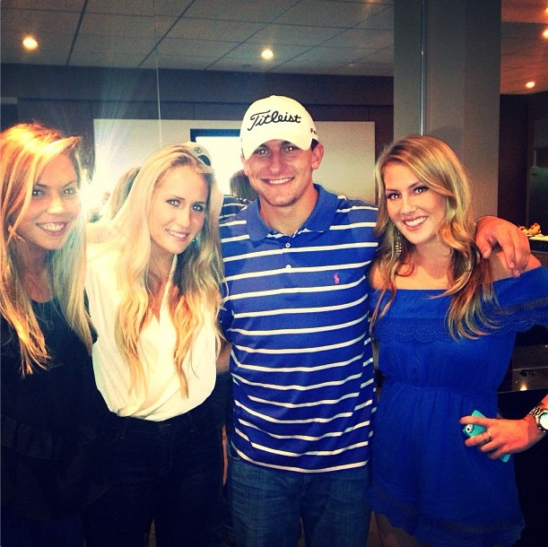 5 johnny manziel at cowboys game with sexy women