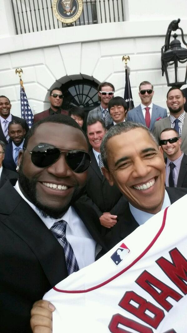 7 david ortiz president obama white house selfie - best sports selfies