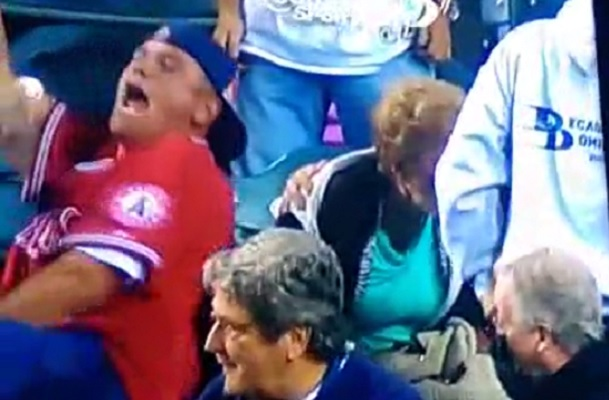 Angels fan crush old lady