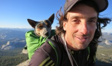 Dean Potter Takes Dog BASE Jumping (Video)