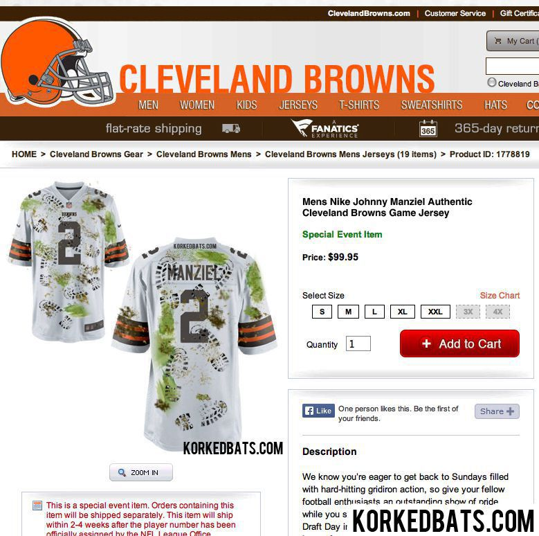 BREAKING- Browns reveal new Johnny Manziel jersey for Week 1 game VS Steelers PIC