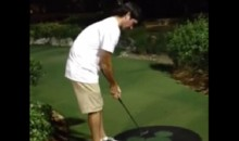 Bubba Watson Sinks Incredible Backwards Mini-Golf Putt (Video)