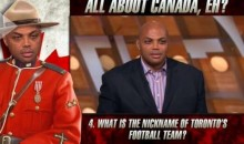 "Charles Barkley Fails Canada Quiz, Tries to Pronounce ""Jonas Valanciunas"" (Video)"
