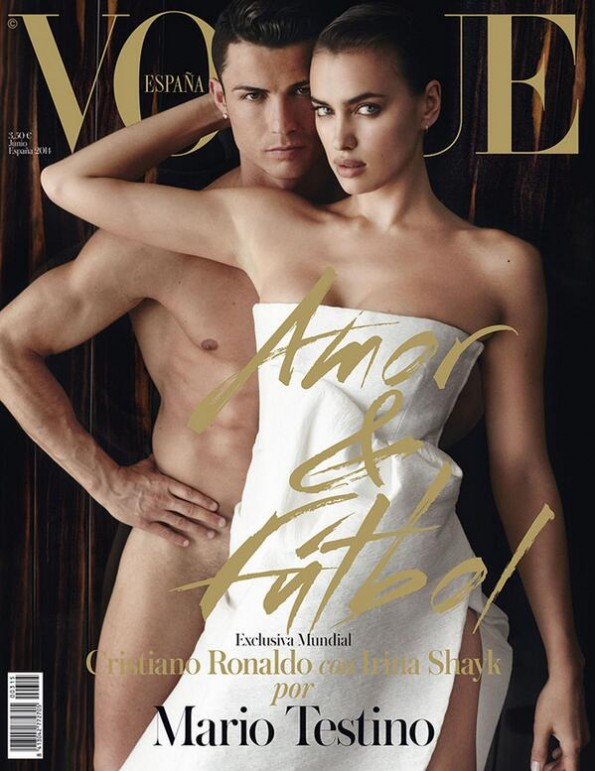 Cristiano Ronaldo and Irina Shayk on 'Vogue' Cover