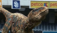 Dinosaur Throws Out First Pitch at Padres Game (GIFs + Video)