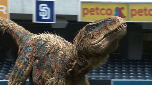 Dinosaur at Padres Game