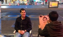 Evgeni Malkin Gets His Caricature Drawn on the Streets of New York (Photo)