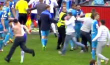 Soccer Game Abandoned After Dinamo Moscow's Vladimir Granat Gets Punched by Zenit Fan (Video)