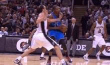 Spurs' Manu Ginobili Slaps Kevin Durant in the Face During Game 5 (GIF)