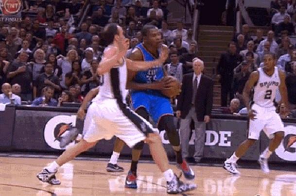 Ginobili slap Kevin Durant
