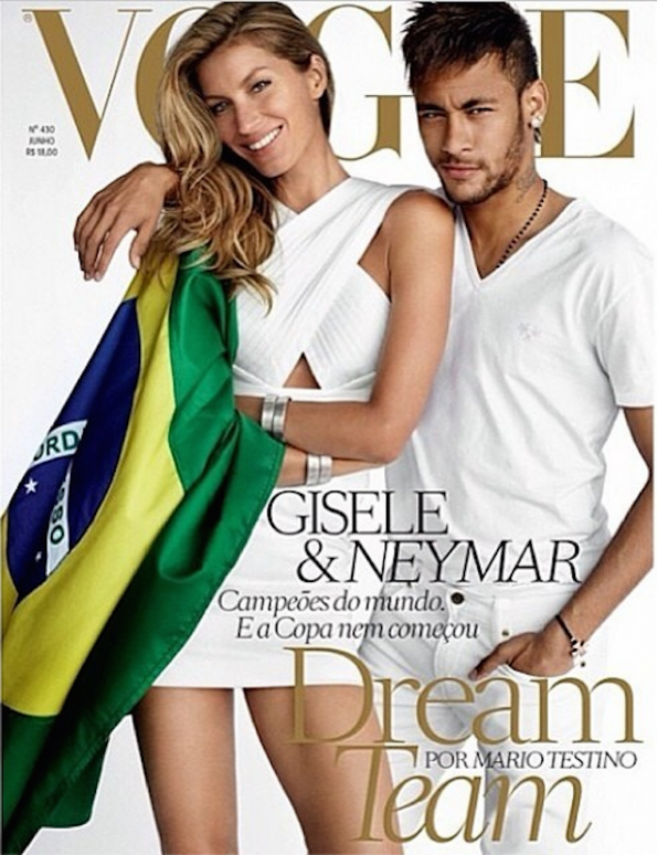 Gisele and Neymar on Vogue Cover