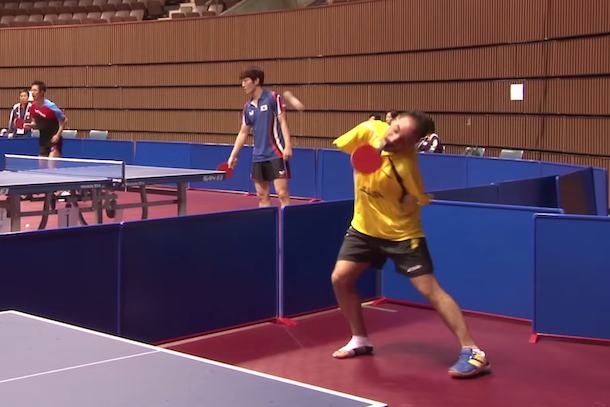 Ibrahim Hamato table tennis player no arms