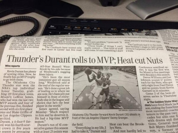 Indiana Newspaper Typo