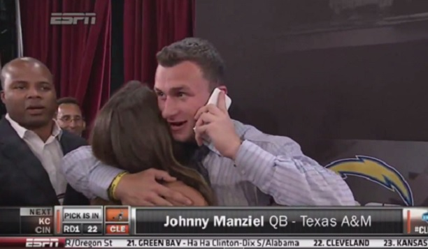 Johnny Manziel drafted Cleveland Browns
