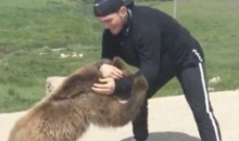 UFC Fighter Khabib Nurmagomedov Wrestles a Bear (Video)