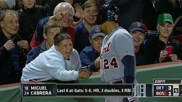 Miguel Cabrera Shakes Kid's Hand