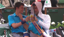 Novak Djokovic Has Some Fun with a Ball Boy During Rain Delay at French Open (Video)