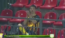 Soccer Player Goes Into Stands to Applaud Himself After Scoring a Goal (Video)