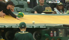 Sonny Gray Fools A's Fans With 'Ball On a String' Trick (GIF)