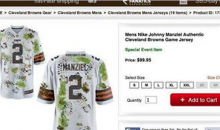 UPDATED: Browns reveal new Johnny Manziel jersey for Week 1 game VS Steelers (PIC)