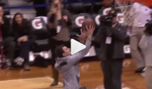 Wait a minute… Can Johnny Manziel dunk on a 10-foot hoop??