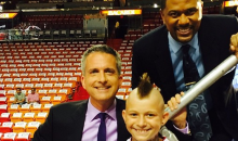 Bill Simmons Finds Young Chris 'Birdman' Andersen Doppelganger in Miami Crowd During Game 4 (Photo)