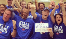 Former Bills QB Jim Kelly Celebrates Last Day of Chemo with Giant Pep Rally (Video)