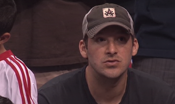 Tony Romo at Clippers Game