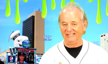 Bill Murray Channels Late Cubs Broadcaster Harry Caray in Promo for Toledo Mud Hens' 'Ghostbusters Night' (Videos)