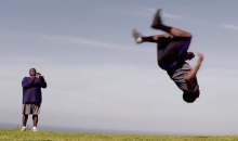 NFL Draft Prospect Bishop Sankey Can Catch a Football While Doing a Backflip (Video)